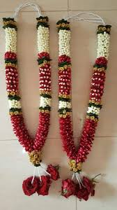 2 bride and groom garlands