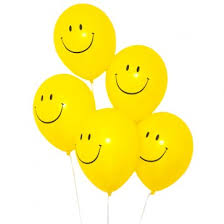 20 smiley gas balloons