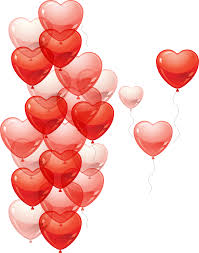 15 heart gas balloons